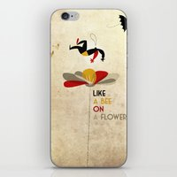 Like a bee on a flower iPhone & iPod Skin