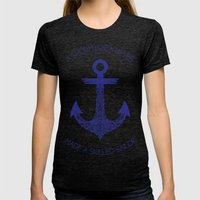 Smooth Sea Womens Fitted Tee Tri-Black SMALL