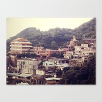 Mountain Town Canvas Print