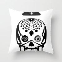 Mexican Skull Throw Pillow