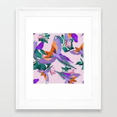 Parrot Paradise (Pink) Framed Art Print