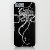 iPhone Cases featuring Octopus (black) by TAOJB