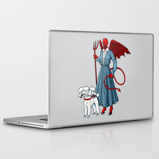 Devil With A Blue Dress On Laptop & iPad Skin