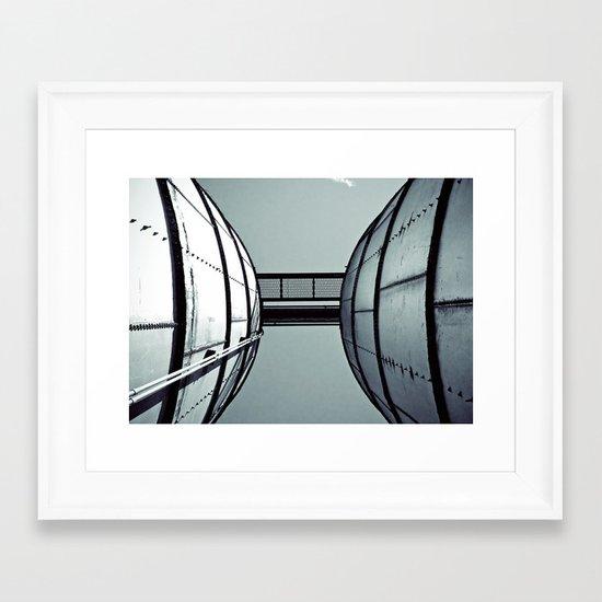 A view up Framed Art Print