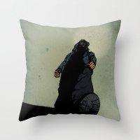 The Menace Throw Pillow