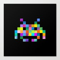 Cubist Invader Canvas Print