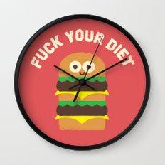 Discounting Calories Wall Clock