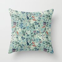 Herb Garden Throw Pillow