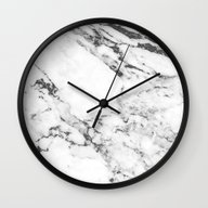 Wall Clock featuring Marble by Thorlol