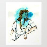 Aquarius (Zodiac Series) Art Print