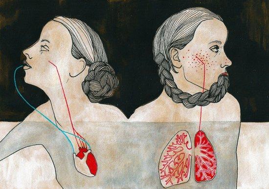 ikizler (twins) Canvas Print