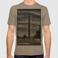 Washington Monument Mens Fitted Tee Tri-Coffee SMALL