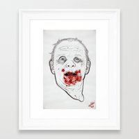 Framed Art Print featuring Ready when you are, Sergeant Pembry. // Silence of the Lambs by boy Roland