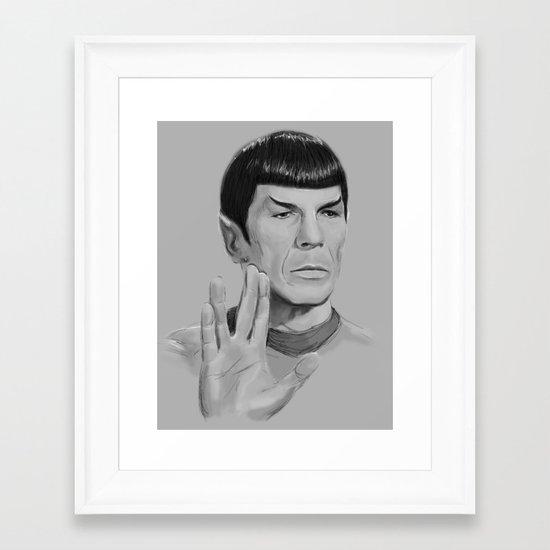Spock Portrait Star Trek Framed Art Print