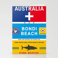 Bondi Beach Sydney Austr… Stationery Cards