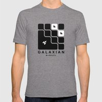 Galaxian Mens Fitted Tee Tri-Grey SMALL