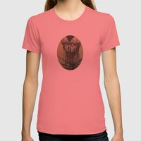 Skull Womens Fitted Tee Pomegranate SMALL