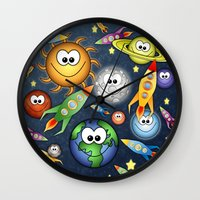 Solar Spaced Out. Wall Clock