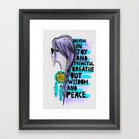 joy & wisdom & peace  Framed Art Print