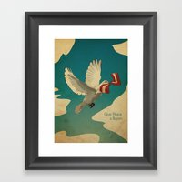 Give Peace a Bacon Framed Art Print