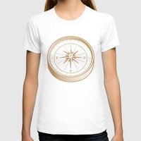 Go With Love Womens Fitted Tee White SMALL