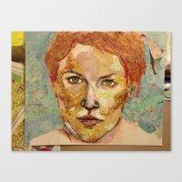Map Self Portrait Canvas Print