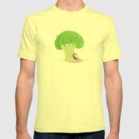 Cauliflower Tree Mens Fitted Tee Lemon SMALL
