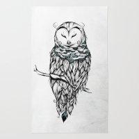Poetic Snow Owl Rug