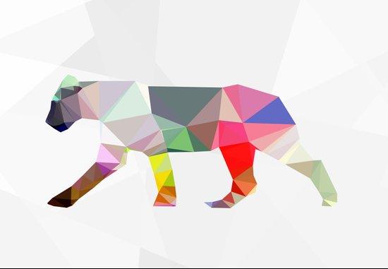 Crystal Lioness Art Print