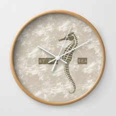 Sea Horse by the Sea Wall Clock
