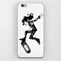 skatergirl iPhone & iPod Skin