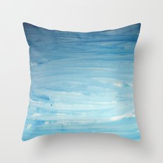 Cool face of the river Throw Pillow