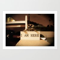 WALL-E    -  I AM HERE Art Print