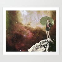 Lady in Space I Art Print