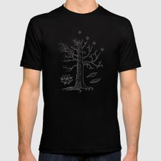 The White Tree of Gondor SMALL Black Mens Fitted Tee