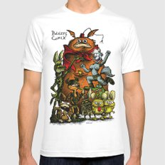 Balsley's Comix (poster) SMALL White Mens Fitted Tee