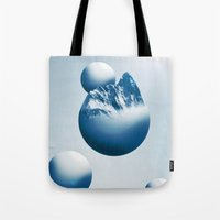 Ice Mountain Planet Tote Bag