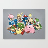 Smash Brawl Canvas Print