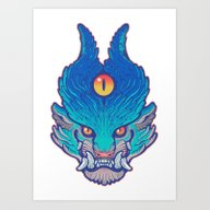 Blue Foo Art Print