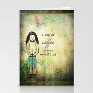 A Cup Of Coffee Solves E… Stationery Cards