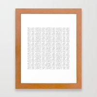 Random Polka ///www.penc… Framed Art Print