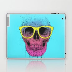 Pop art skull with glasses Laptop & iPad Skin