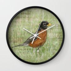 Spring Robin Wall Clock
