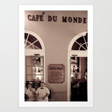 Cafe duMonde. Art Print