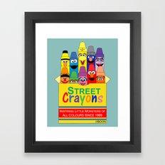 Color Me Sesame Framed Art Print