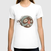 SuperMustacheMan Womens Fitted Tee White SMALL