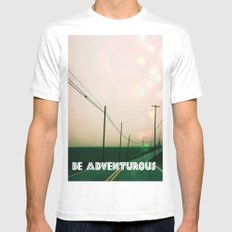 Be Adventurous  SMALL White Mens Fitted Tee