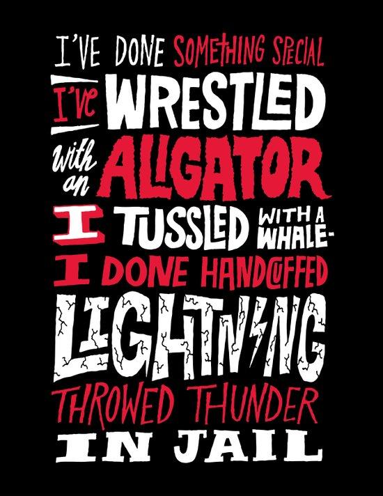 Muhammad Ali: Aligator Art Print
