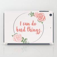 I Can Do Hard Things iPad Case
