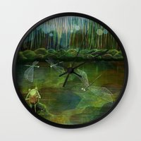 Frog on his Rock Wall Clock